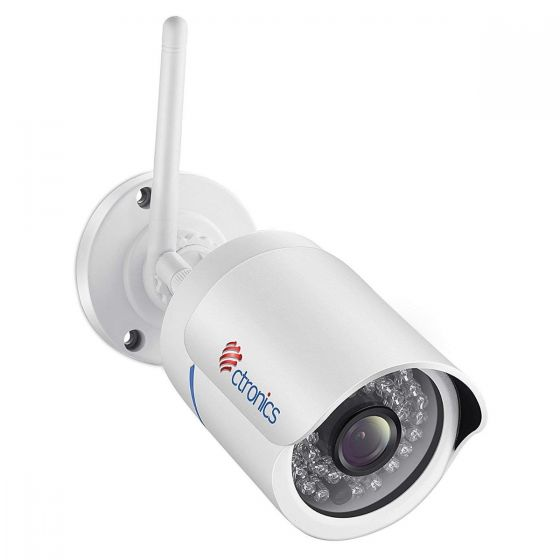 Ctronic弾丸型防犯カメラ ワイヤレスカメラ WIFIIP監視カメラ 暗視防犯 IP66防水 36個赤外線LED搭載 最大30mの夜間視界 (1080P 弾丸型)