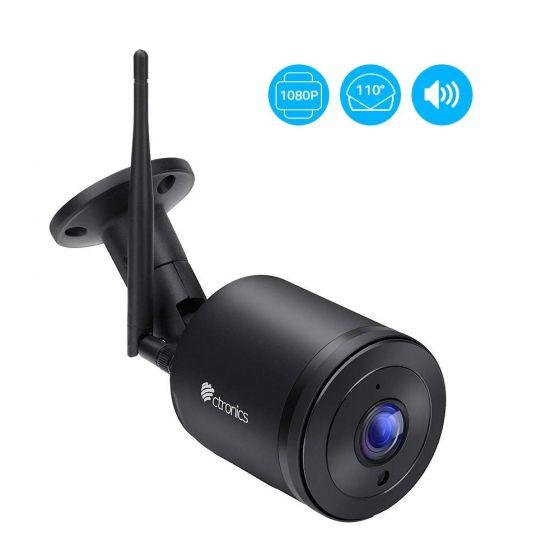 200万画素IP防犯カメラ ネットワーク室外監視カメラ IP66防水 110°広い角度 双方向音声通信機能 暗視撮影 動体検知 自動録画 メール通知SDカード対応(128Gまで)日本語説明書つき