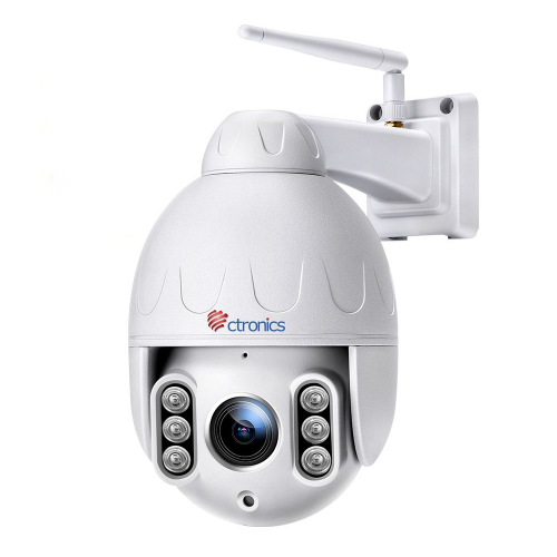 【PTZ機能・500万画素】Ctronics 屋外 防犯 カメラ ワイヤレス 500万画素 最新人だけ検知機能 強化したWI-FIアンテナ 監視カメラ 音声通話 国際防水規格IP66 SONYセンサーで夜でもはっきり 様々な録画機能 二年品質保証 わかりやすい日本語ソフト・説明書 最大128GMicro SDカ-ド対応 自動的に上書き