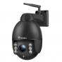 Ctronics200万画素PTZ(パン・チルト・ズーム)防犯カメラ ネットワーク室外監視ドームカメラ IP66防水 360度&4倍ズーム 50mまでの暗視撮影 双方向音声通信機能 動体検知 メール警報通知SDカード対応(128Gまで)日本語説明書つき